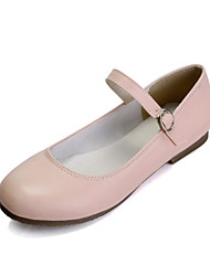 Customizable Women's Dance Shoes Leather Leather Ballet Flats Flat Heel Practice Beginner Performance Black Pink White Almond