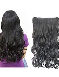 moda uma peça / encaracolado extensão do cabelo longo onda / ondulado