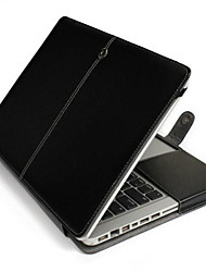 "cheap -Case for MacBook Pro 13.3"" Solid PU Leather Material Business PU Leather Case Stand Case Cover"