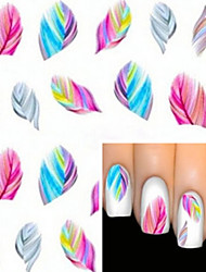 cheap -1 pcs Cartoon / Fashion Water Transfer Sticker / 3D Nail Stickers Lovely Daily