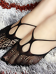cheap -Women Core Spun Yarn/Lace Medium Socks  Fashion. Silk stockings black