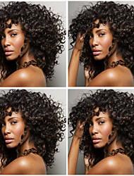 Недорогие -в наличии 14-26inch бразильский девственные волосы курчавые курчавые естественный цвет волос шнурка человеческие передний