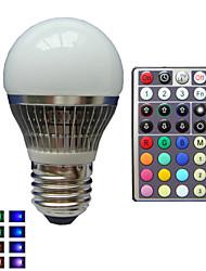 E26/E27 LED-globepærer A50 1 leds Højeffekts-LED RGB Dæmpbar Fjernstyret Dekorativ Vekselstrøm 85-265