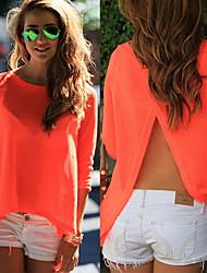 billige -Dame-Ensfarvet Gade Bluse