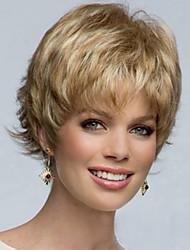 Недорогие -среднего возраста и старых моды за пределами нового золотого короткие крылья парик