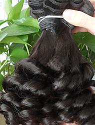 Cabelo Humano Cabelo Brasileiro Cabelo Humano Ondulado Ondulado Extensões de cabelo 1 Peça Preto