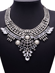 Women's Statement Necklaces Jewelry Jewelry Synthetic Gemstones Alloy Fashion Euramerican Jewelry For Party Gift