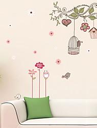 decalques de parede adesivos de parede, parede animados gaiola árvore adesivos em pvc