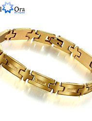 New 18k Gold Plated Bracelet For Men Jewelry accessories Wholesale Thick Rock Chain link Bracelet Men Christmas Gifts