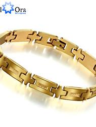 Pulseiras em Correntes e Ligações Aço Inoxidável 18K ouro Original Moda Jóias Dourado Jóias 1peça