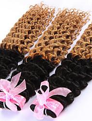 Недорогие -Перуанские волосы Классика Кудрявое плетение Кудрявый Ткет человеческих волос Высокое качество 0.29 Повседневные