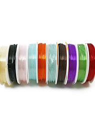 cheap -Beadia 1mm Elastic Stretch Beading Crystal Cord Necklace Bracelet DIY Wire Thread Multi Color 10 Rolls (apx 5m/roll)