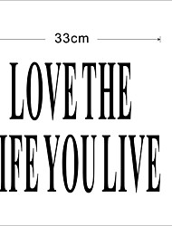 ama la vita si vive decalcomania della parete zooyoo8177 adesivo da parete in vinile smontabile diy decorativo