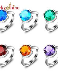 Ringe Mode Fest Smykker Statement-ringe 1 Stk.,7 8 9½ Sølv