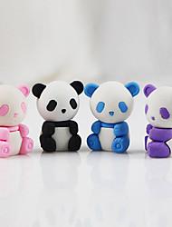 Недорогие -мультфильм панда съемный дий резиновый ластик студент дети призы подарок собирать игрушку