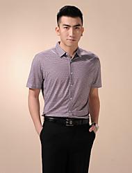 billige -Herre - Ternet, Trykt mønster Skjorte