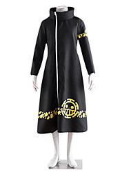cheap -Inspired by One Piece Trafalgar Law Anime Cosplay Costumes Cosplay Suits Print Long Sleeves Coat For Male Female