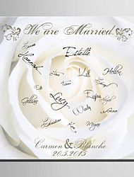 E-HOME® Personalized Signature Canvas Frame-The White Rose