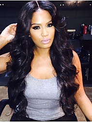 cheap -In Stock,Full Lace Wig 100% Brazilian Human Hair Wig Wavy 14-28inch Natural Color Virgin Hair