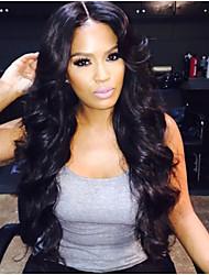 Недорогие -в наличии, полный шнурок парик 100% человеческих волос бразильский парик волнистые 14-28inch естественный цвет волос девственница