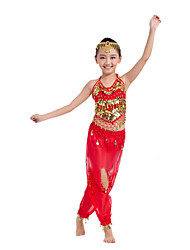 Shall We Belly Dance Outfits Children Chiffon/Polyester Outfit Dance Costumes