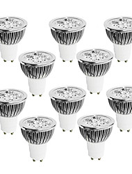 cheap -10pcs 4W 400-450 lm GU10 LED Spotlight 4 leds High Power LED Dimmable Warm White Cold White White 220-240