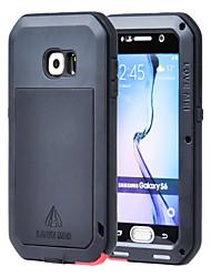 preiswerte -Lovemei Hülle Für Samsung Galaxy Samsung Galaxy Hülle Wasser / Dirt / Shock Proof Ganzkörper-Gehäuse Rüstung Metal für S6