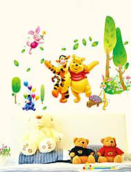 Životinje Botanički Crtani film Zid Naljepnice Zidne naljepnice Dekorativne zidne naljepnice Visina Naljepnice, PVC Početna Dekoracija