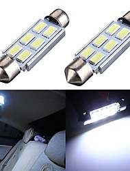 cheap -2 x 42mm Festoon 5630 6SMD LED Bulbs Interior Dome Map Reading Lights