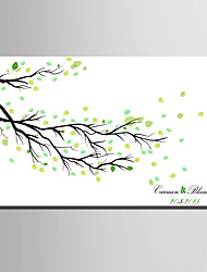 E-HOME® Personalized Fingerprint Painting Canvas Prints - Fallen Leaves (Includes 12 Ink Colors)