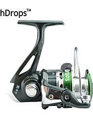 cheap -FISHDROPS Aluminum Spool, Metal Handle 5.5:1, 7 Ball Bearings Spinning Reel, Left & Right Hand Exchangble