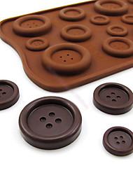 botão de doces de chocolate em forma de muffin de cozimento molde 22 * 10,5 * 0,5 centímetros