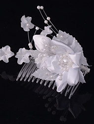 Women Satin Headbands With Imitation Pearl Wedding/Party Headpiece