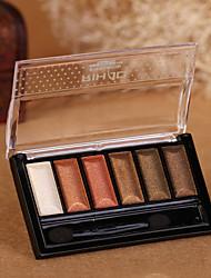 abordables -6 Sombras de Ojos / Polvos Ojo Maquillaje Smokey Maquillaje Cosmético / Mate / Brillo