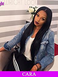 """8 """"-26"""" бразильские виргинские волосы прямые бесклеевой парик шнурка фронта шнурка парик с волосами младенца для черных женщин"""