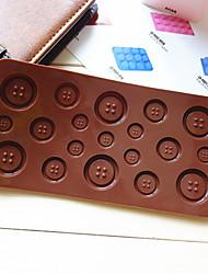 molde botão em forma de doces de chocolate muffin de cozimento molde (cor aleatória)