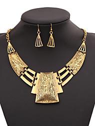billige -Dame Geometrisk Smykke Sæt / Erklæring Halskæder - Guldbelagt Mode Guld, Sølv Halskæder Til Fest, Speciel Lejlighed, Fødselsdag
