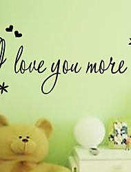 Ich liebe dich mehr lovingwall Aufkleber zooyoo8178 dekorative adesivo de parede abnehmbare Vinyl-Wandaufkleber