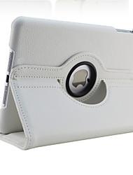 Недорогие -Кейс для Назначение Apple iPad Mini 5 / iPad New Air (2019) / iPad Air Поворот на 360° / со стендом / С функцией автовывода из режима сна Чехол Однотонный Твердый Кожа PU / iPad (2017)