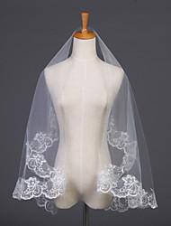 Недорогие -Один слой Кружевная кромка Свадебные вуали Фата до локтя с Вышивка 59,06 В (150см) Тюль / Овальная