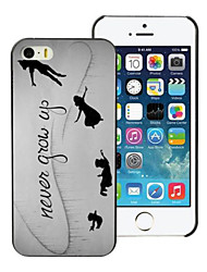 Never Grow Up Design PC Hard Case for iPhone 7 7 Plus 6s 6 Plus SE 5s 5c 5