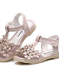 Fille-Mariage Extérieure Habillé Décontracté Soirée & Evénement-Rose Blanc-Talon Plat-Confort Flower Girl Chaussures-Sandales-Similicuir