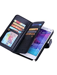 cheap -Case For Samsung Galaxy Samsung Galaxy Note Card Holder Wallet Magnetic Full Body Cases Solid Color Hard PU Leather for Note 5 Note 4