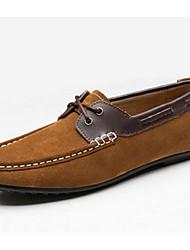 abordables -Zapatos de Hombre Mocasines Casual Ante Azul / Marrón