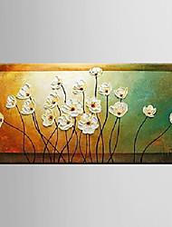 Недорогие -Ручная роспись Натюрморт / Цветочные мотивы/ботаническийModern 1 панель Холст Hang-роспись маслом For Украшение дома