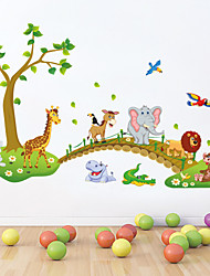 economico -wall stickers da parete in stile decalcomanie bella foresta wall stickers pvc animale