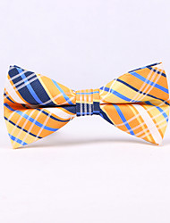 cheap -Men's Polyester Bow Tie,Vintage Print All Seasons Emerald Mustard Wine Khaki