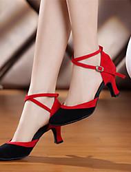 """economico -Da donna Danza moderna Velluto Sintetico Tacchi Per interni Pelliccia A stiletto Nero e rosso Royal Blue 2 """"- 2 3/4"""" Non personalizzabile"""
