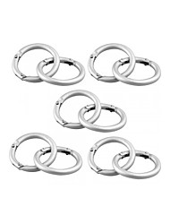 cheap -10pcs Silver Round Carabiner Camp Spring Snap Clip Hook Keychain Keyring Climbing