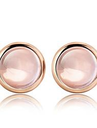 cheap -2016 Korean Women 925 Silver Sterling Silver Jewelry Pink Crystal Earrings Stud Earrings 1Pair